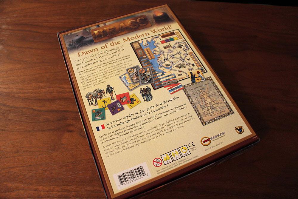 ボードゲーム「BRASS」の箱裏面