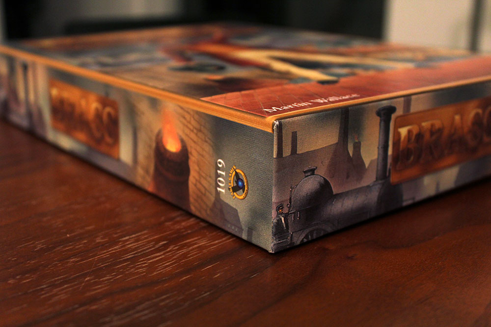 ボードゲーム「BRASS」の箱側面