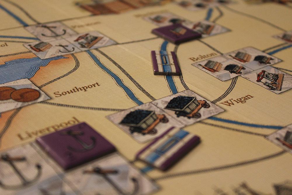 ボードゲーム「BRASS」の綿売却の図
