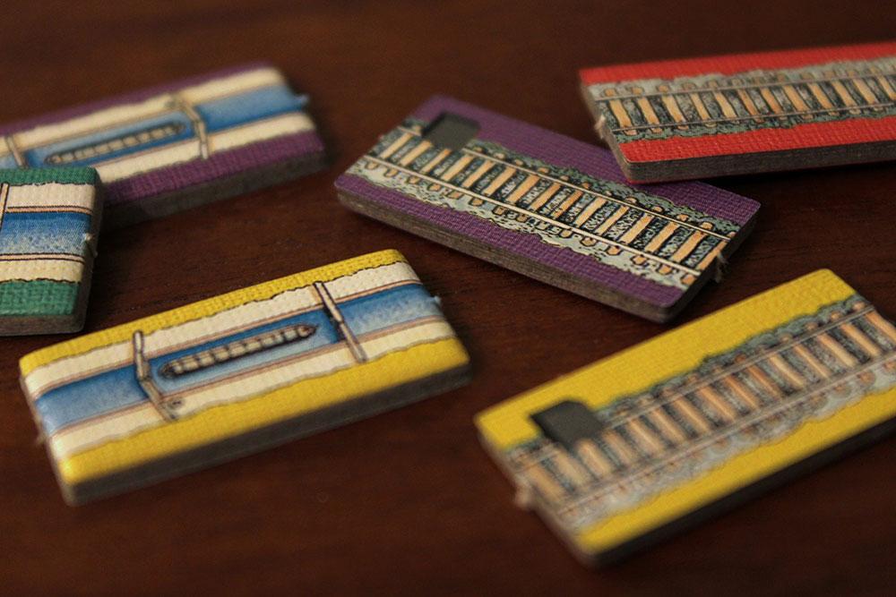 ボードゲーム「BRASS」の運河タイルと鉄道タイル