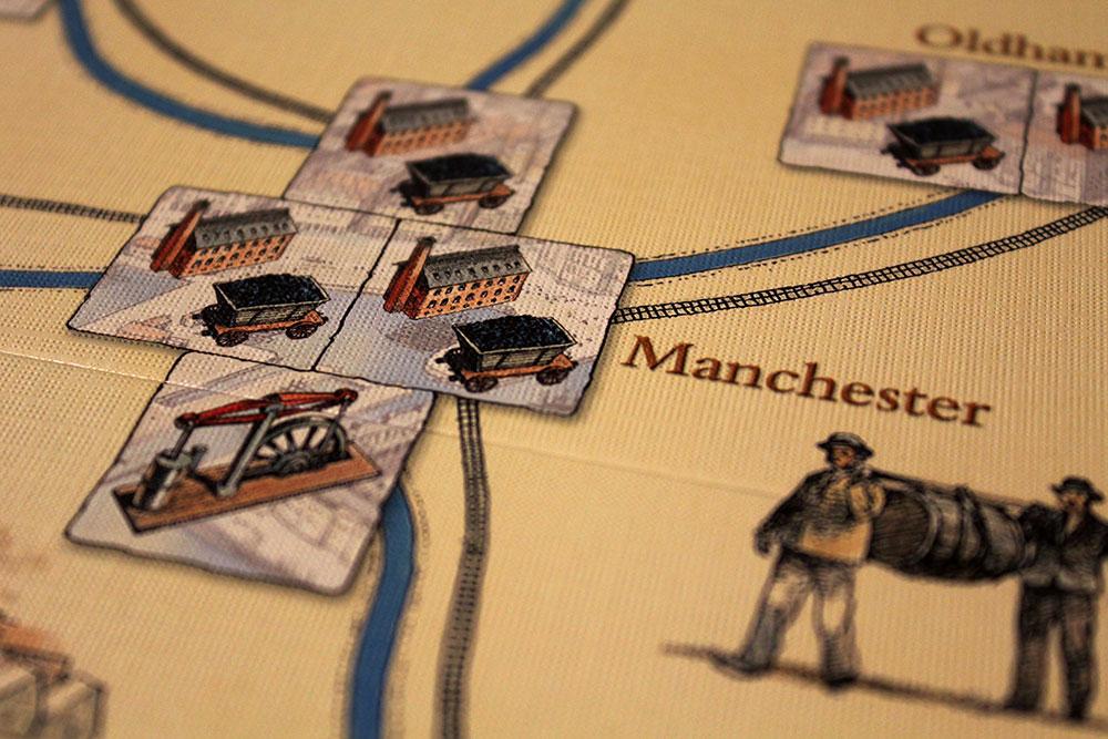 ボードゲーム「BRASS」の都市拡大