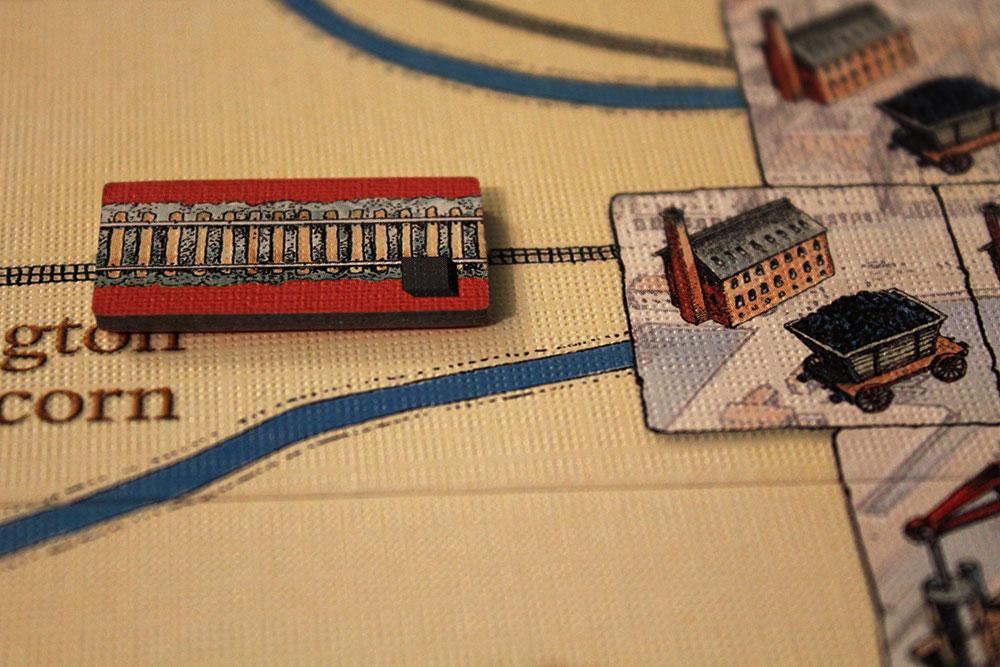 ボードゲーム「BRASS」の鉄道タイル配置図
