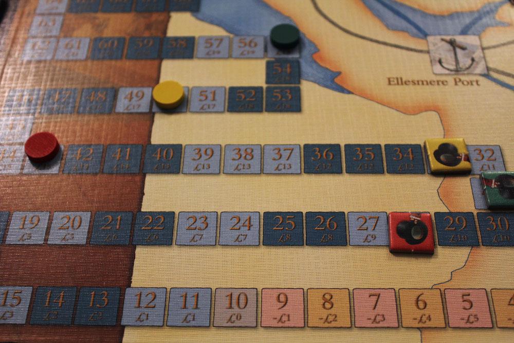 ボードゲーム「BRASS」の収入トラック
