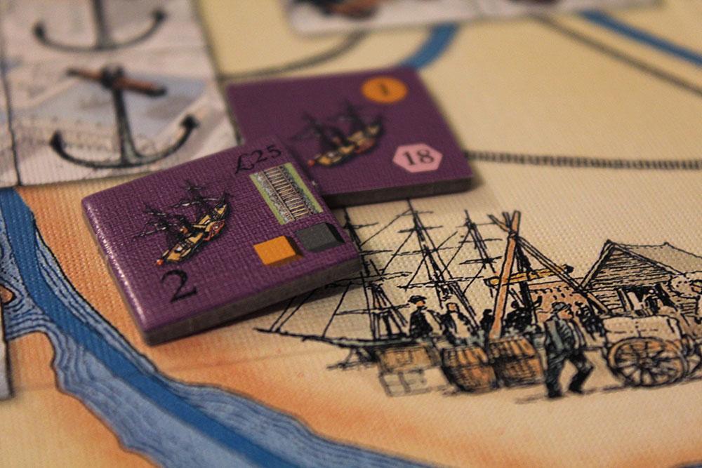 ボードゲーム「BRASS」の造船所タイル