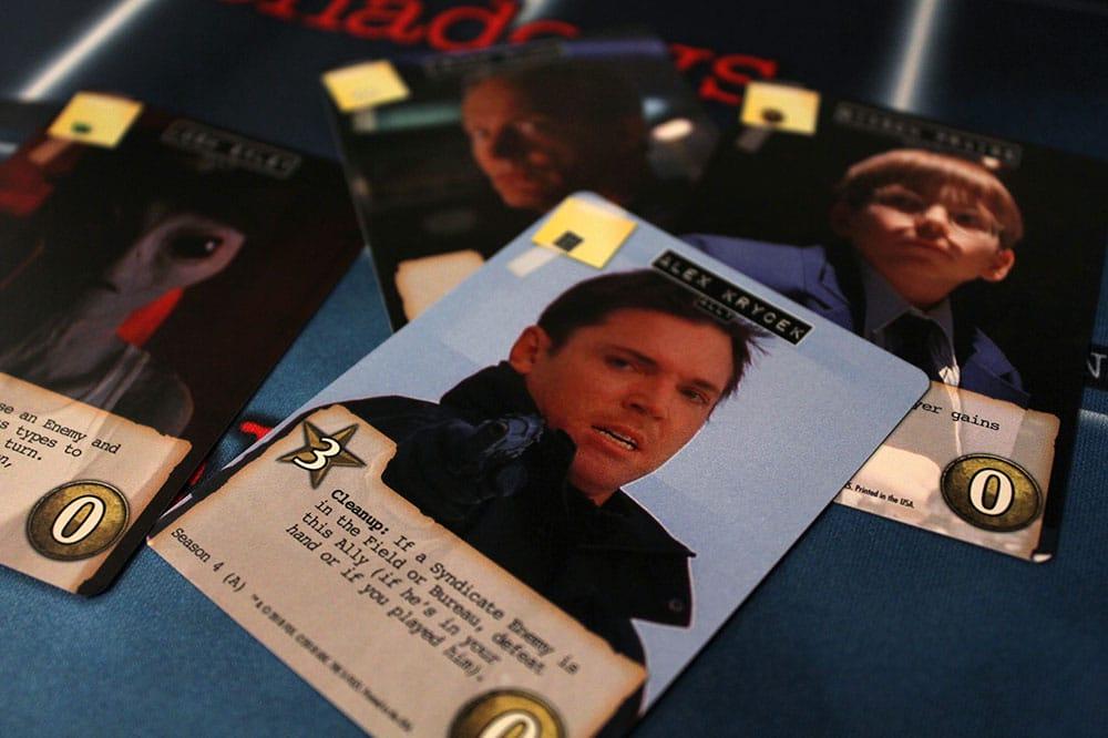 ボードゲーム「Legendary Encounters: The X-Files」のキャラクターカード