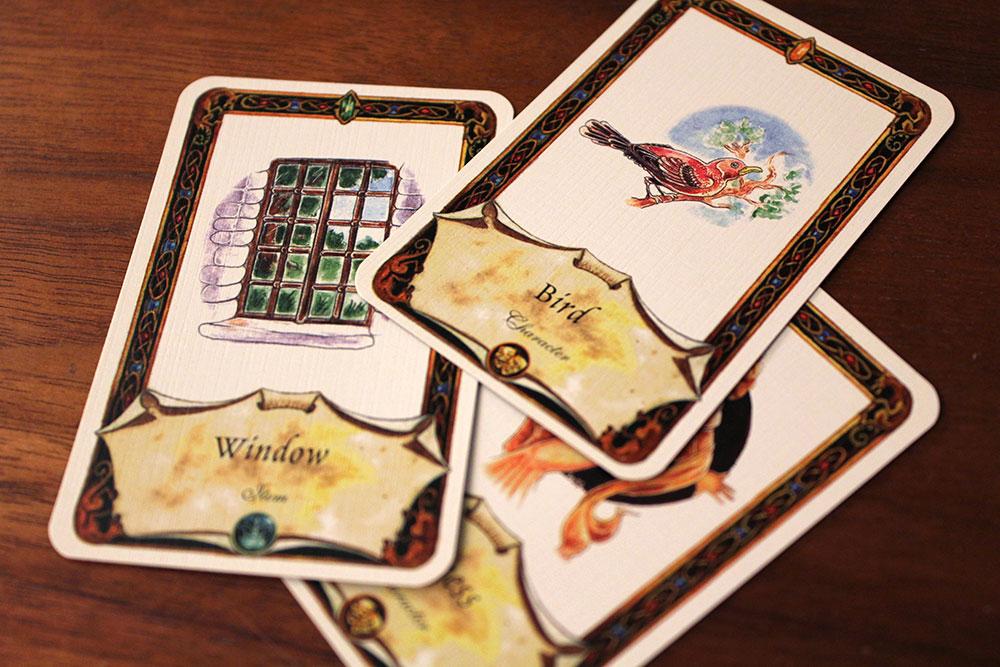 ボードゲーム「Once Upon A Time」の窓と鳥のカード