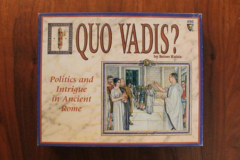 ボードゲーム「QUO VADIS?」の箱表面