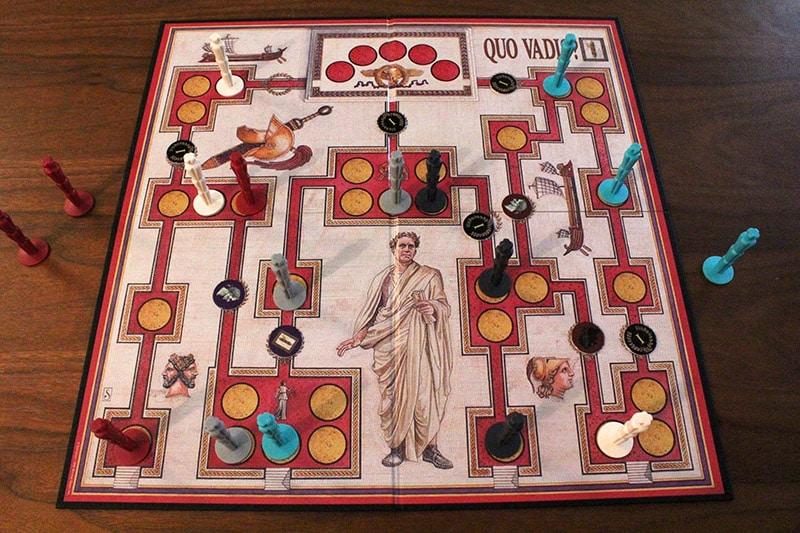 ボードゲーム「QUO VADIS?」のプレイ中写真