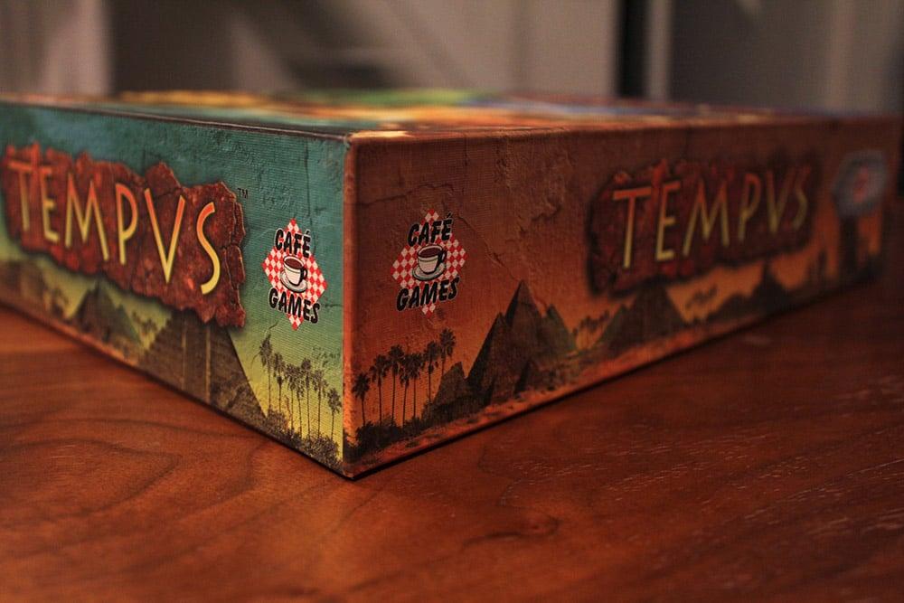ボードゲーム「TEMPUS」の箱側面