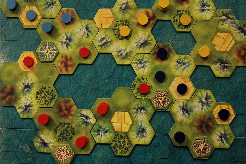 ボードゲーム「TEMPUS」のプレイ中ボード