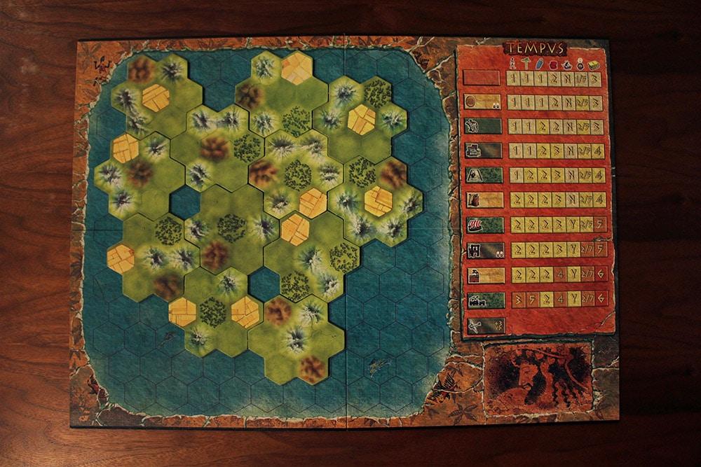 ボードゲーム「TEMPUS」のマップ1