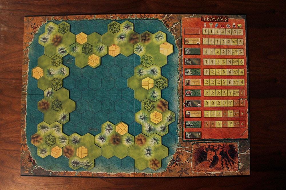 ボードゲーム「TEMPUS」のマップ2
