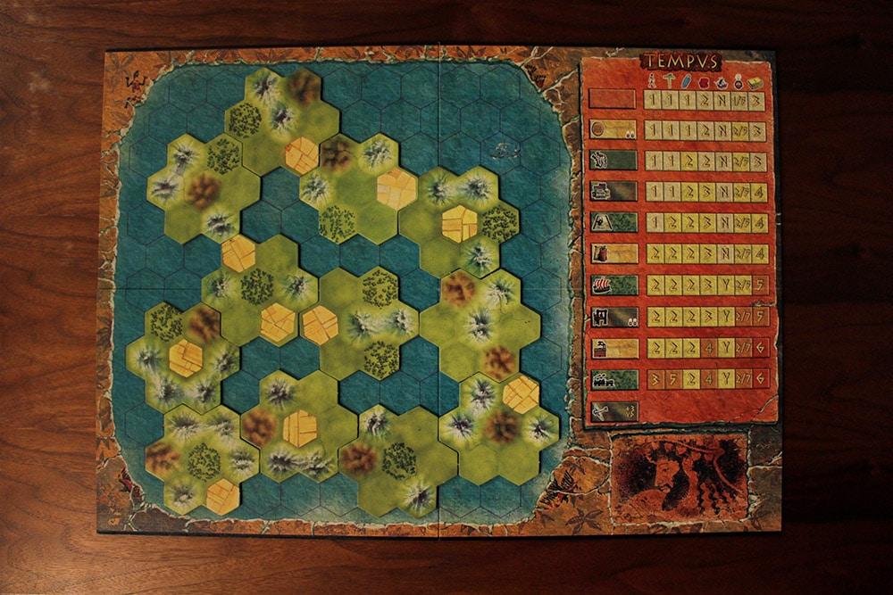 ボードゲーム「TEMPUS」のマップ3