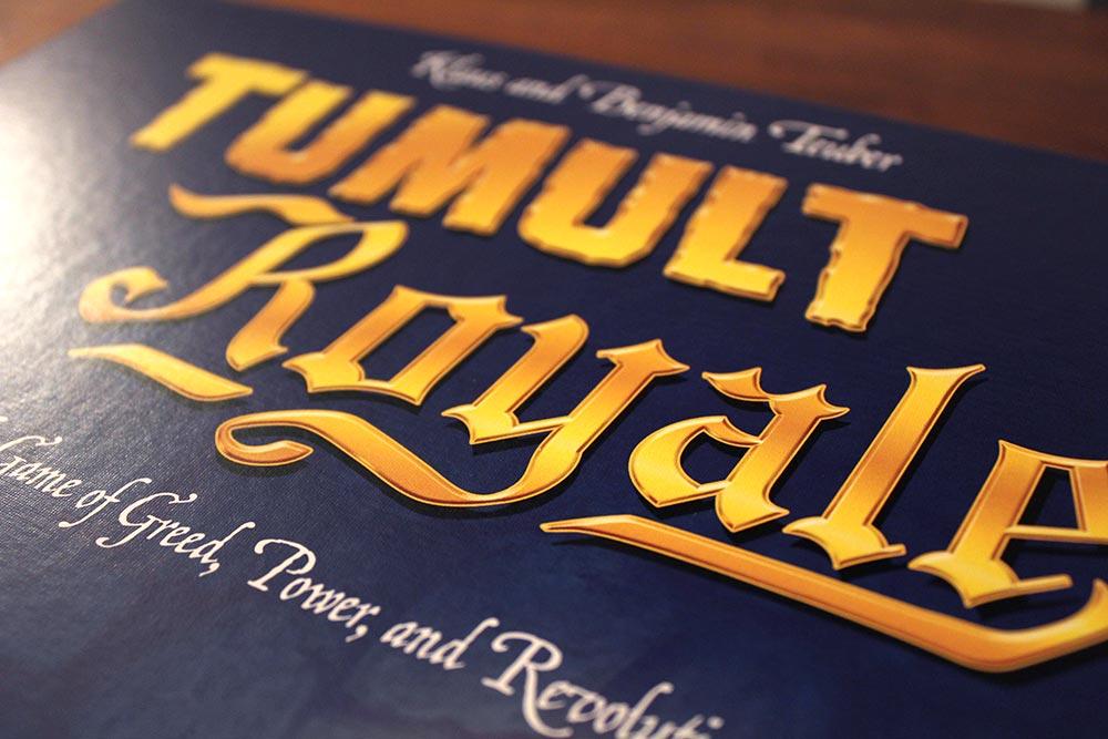 ボードゲーム「Tumult Royale」のロゴ