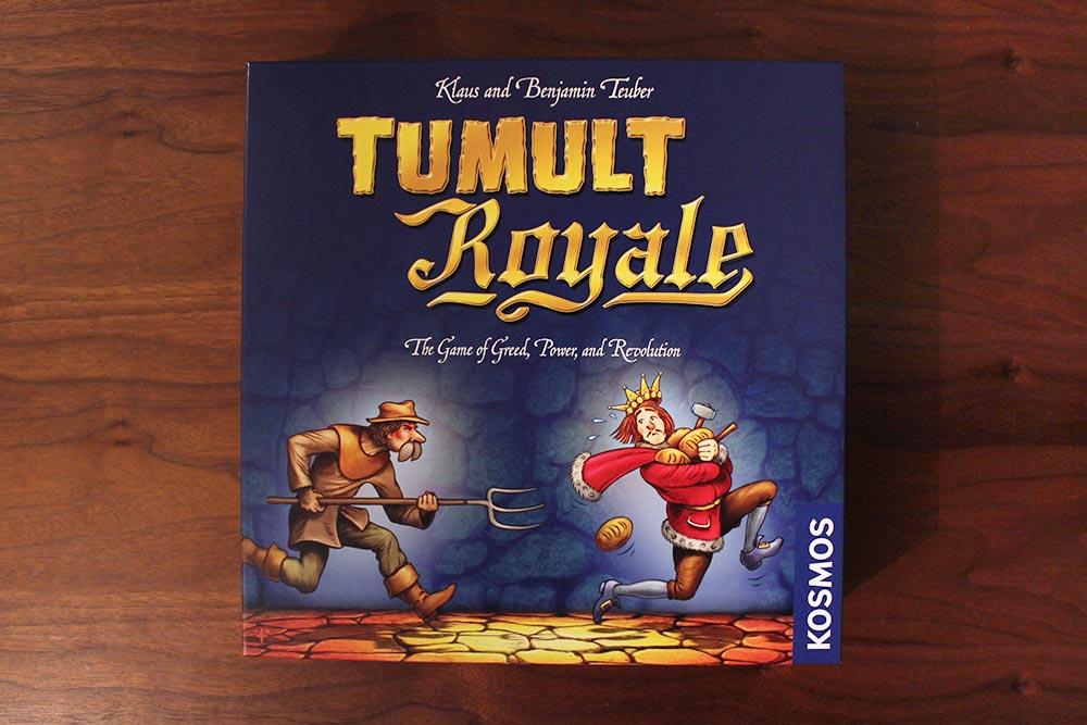 ボードゲーム「Tumult Royale」の箱表面
