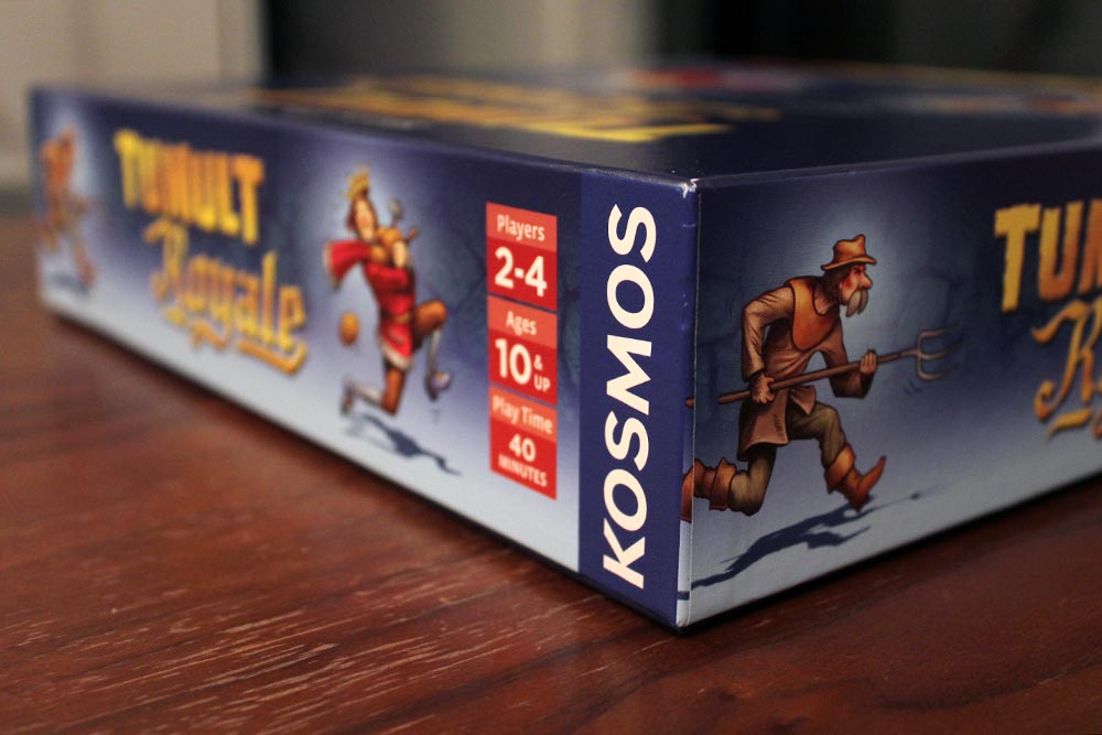 ボードゲーム「Tumult Royale」の箱側面