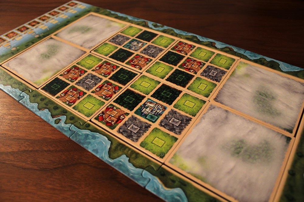 ボードゲーム「Tumult Royale」のマップ