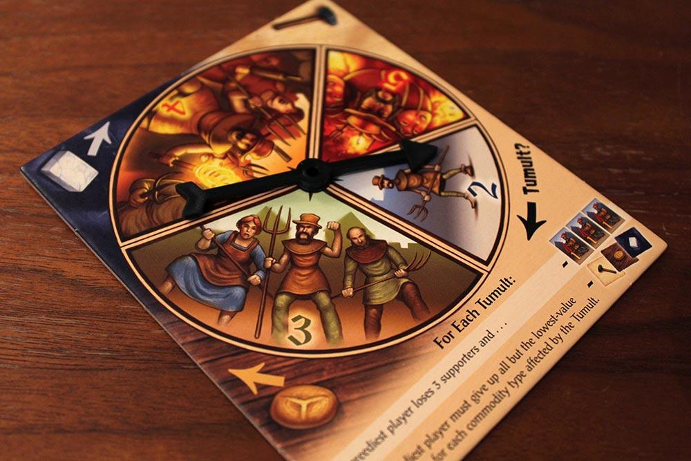 ボードゲーム「Tumult Royale」のルーレット