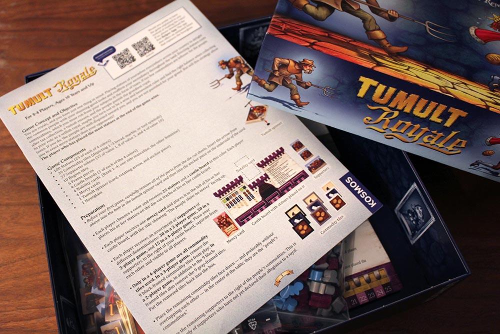 ボードゲーム「Tumult Royale」の開封