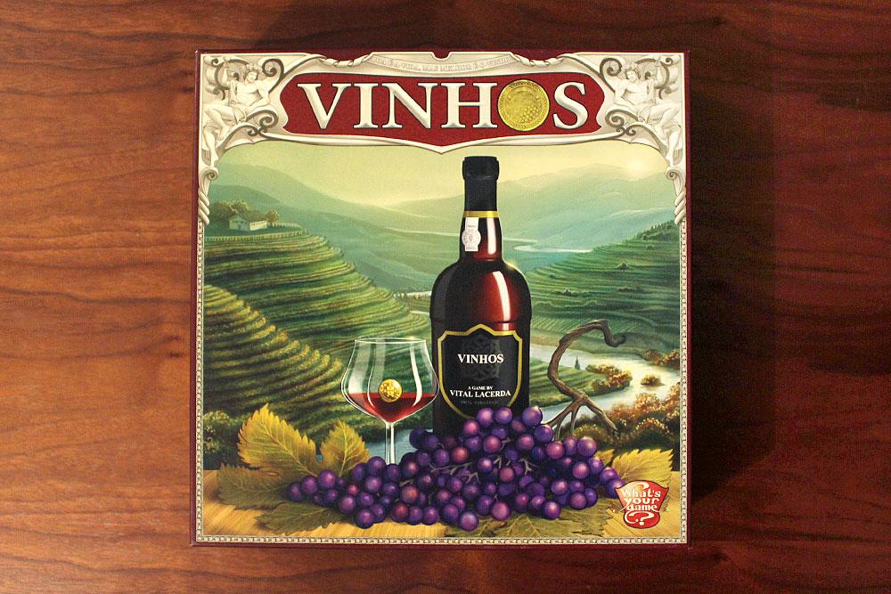 ボードゲーム「VINHOS」の箱表面