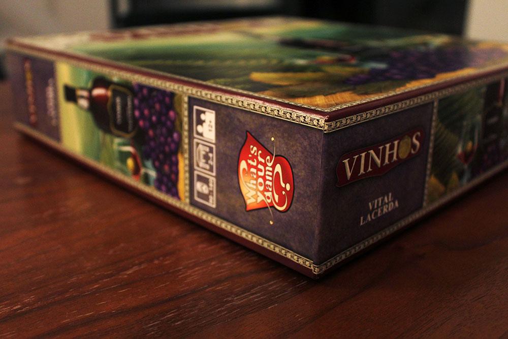 ボードゲーム「VINHOS」の箱側面