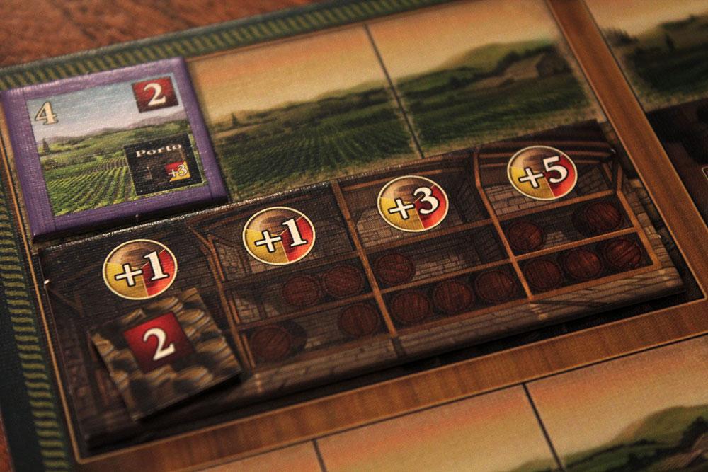 ボードゲーム「VINHOS」のワイン貯蔵庫