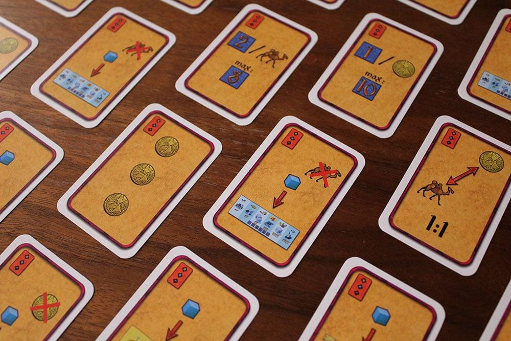 ボードゲーム「Yspahan」の建築ボード