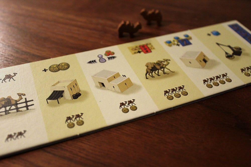 ボードゲーム「Yspahan」のラクダとコイン