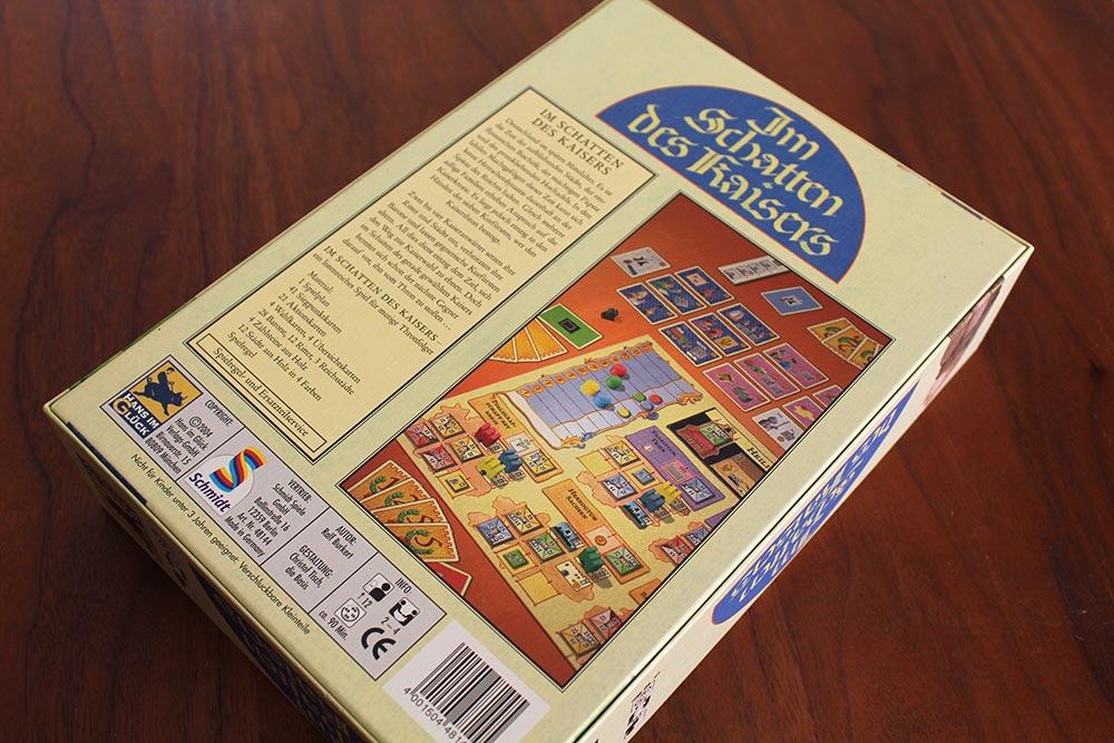 ボードゲーム「皇帝の影」の箱裏面