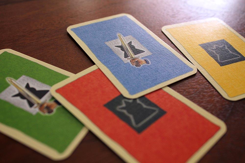 ボードゲーム「皇帝の影」の投票カード