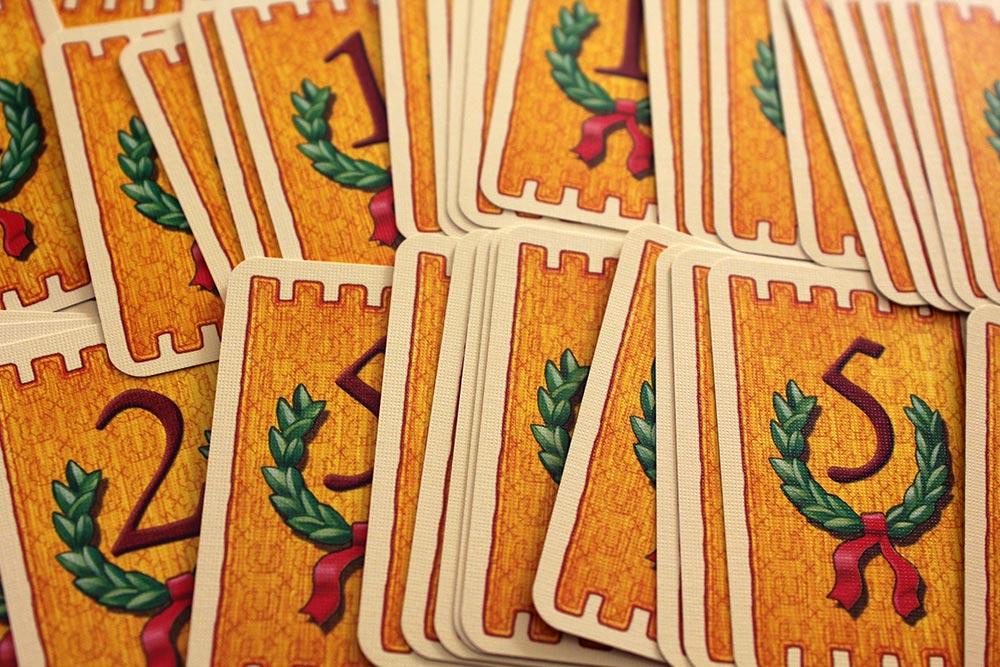 ボードゲーム「皇帝の影」のポイントカード