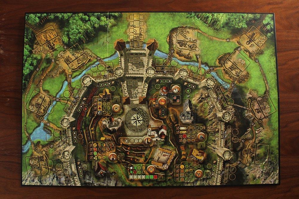 ボードゲーム「Stronghold」のボード全景