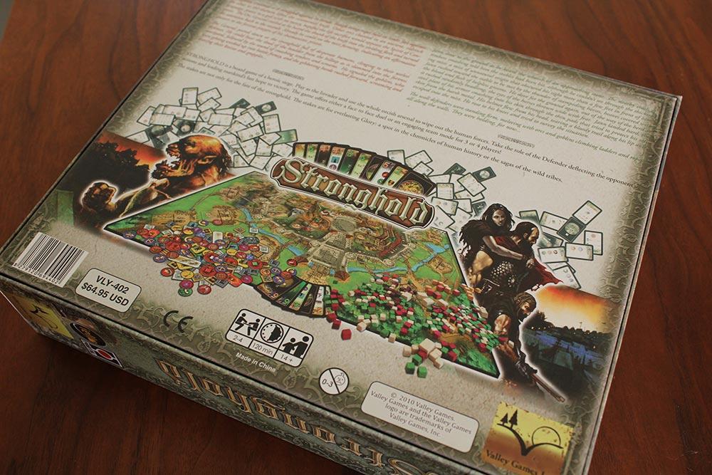 ボードゲーム「Stronghold」の箱裏面