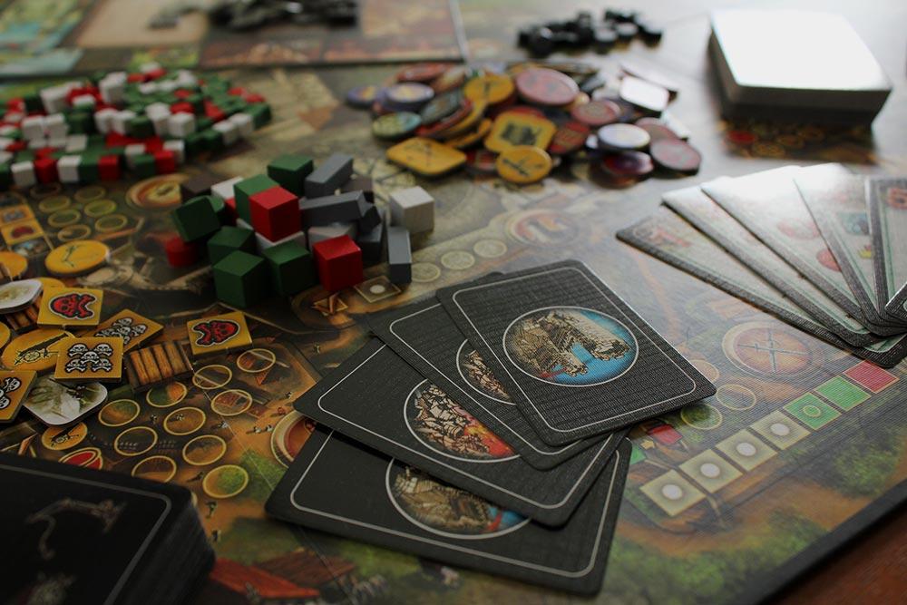 ボードゲーム「Stronghold」のコンポーネント