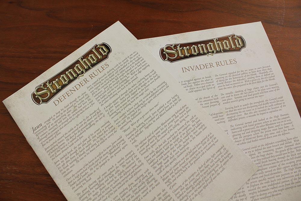 ボードゲーム「Stronghold」のルールブック