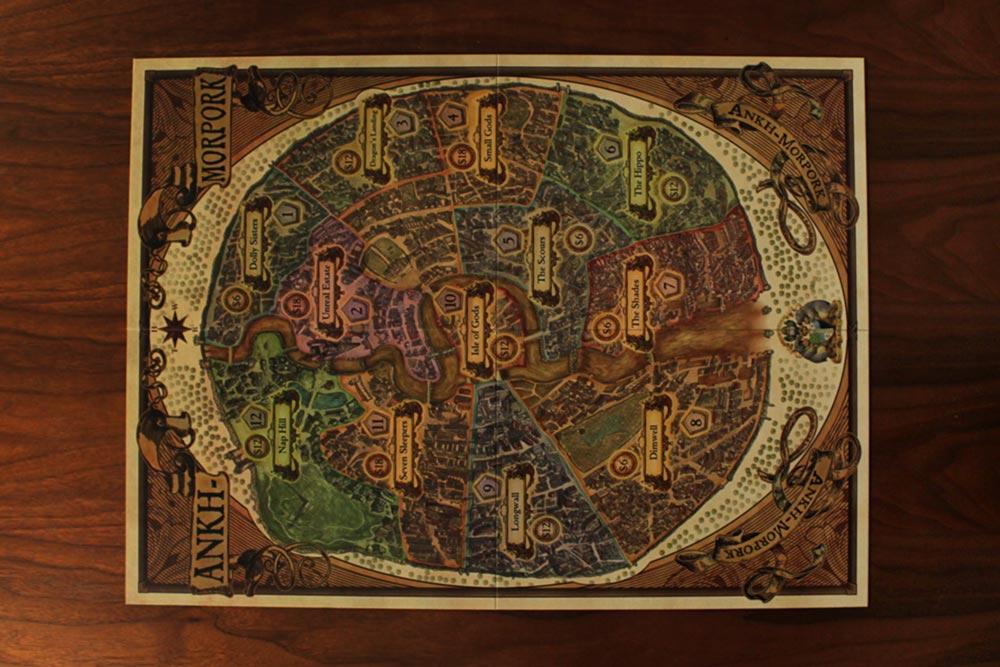 ボードゲーム『ディスクワールド: アンク・モルポーク』のボード全体
