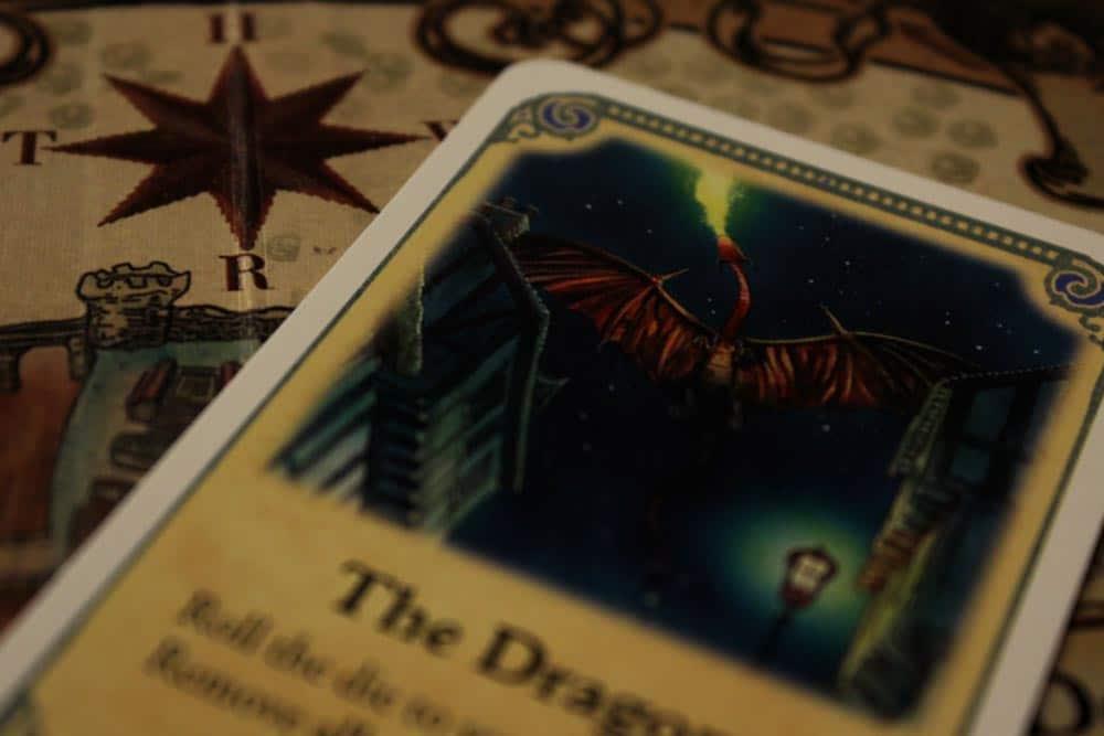 ボードゲーム『ディスクワールド: アンク・モルポーク』のドラゴンのカード