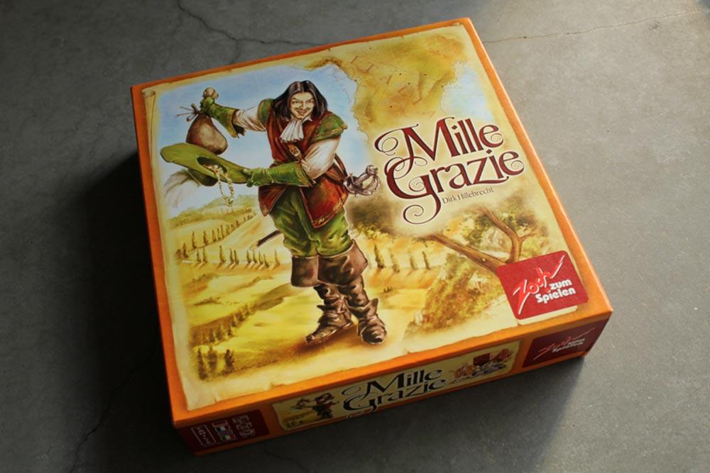 ボードゲーム『ミレ・グラツィエ』の箱表面