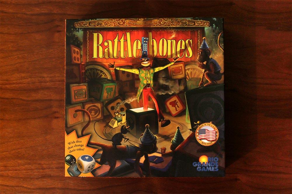 ボードゲーム「ラットルボーン」の箱表面