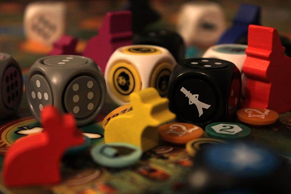 ボードゲーム「ラットルボーン」のサイコロ