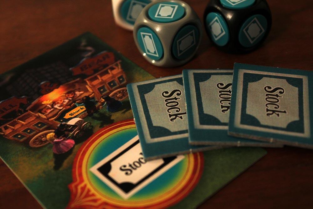 ボードゲーム「ラットルボーン」の株券