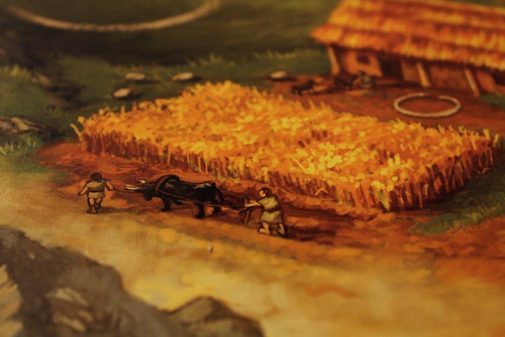 ボードゲーム「ストーンエイジ」の耕作地