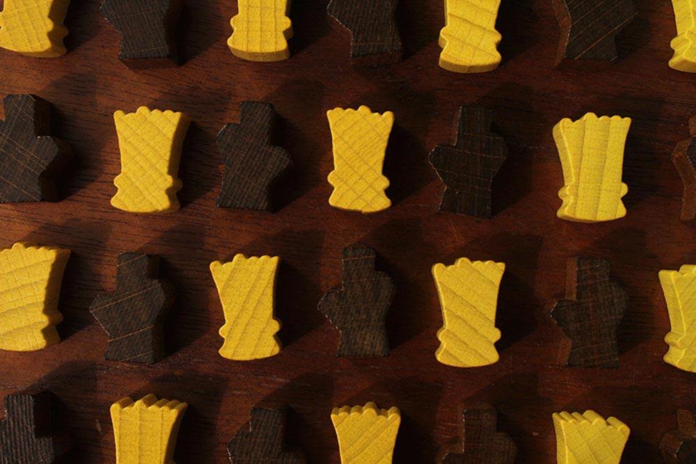 ボードゲーム「ソレニア」の小麦と木材