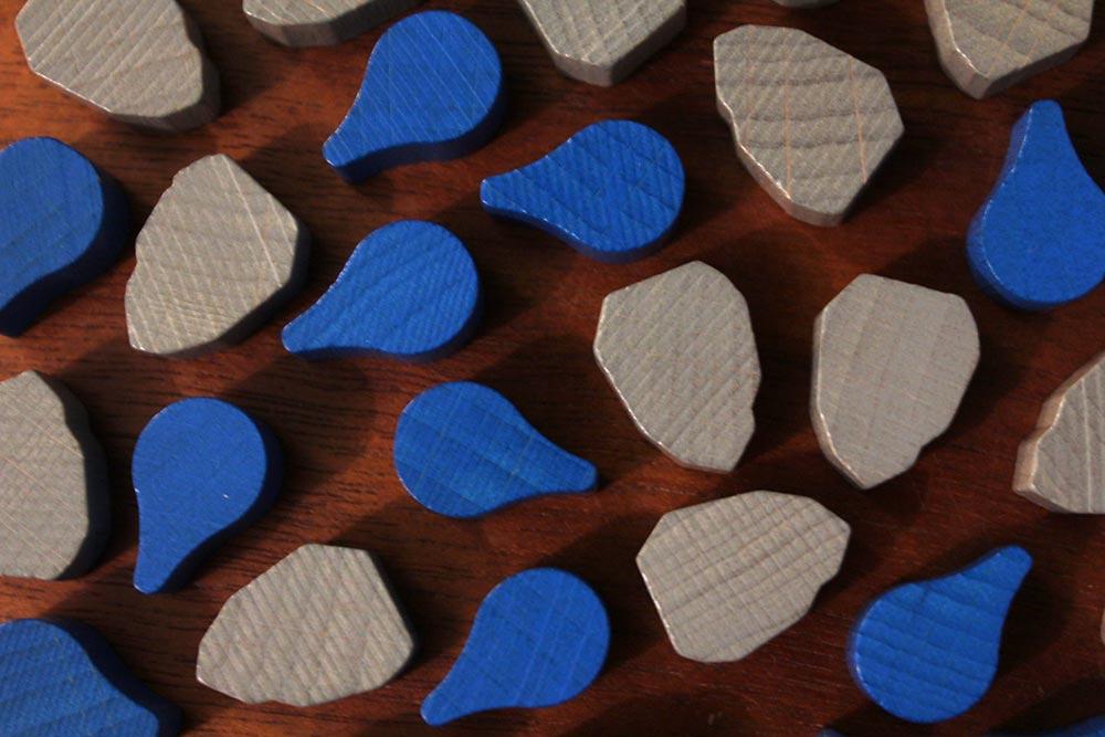 ボードゲーム「ソレニア」の水と石材