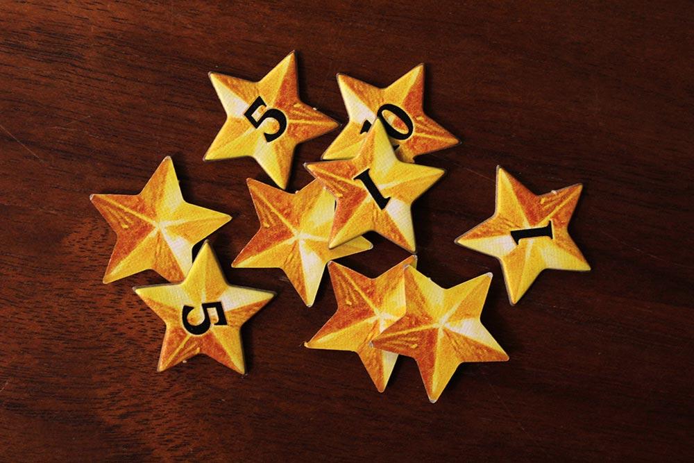 ボードゲーム「ソレニア」の星チップ