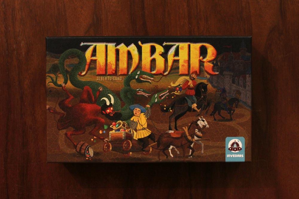ボードゲーム「アンバー」の箱表面