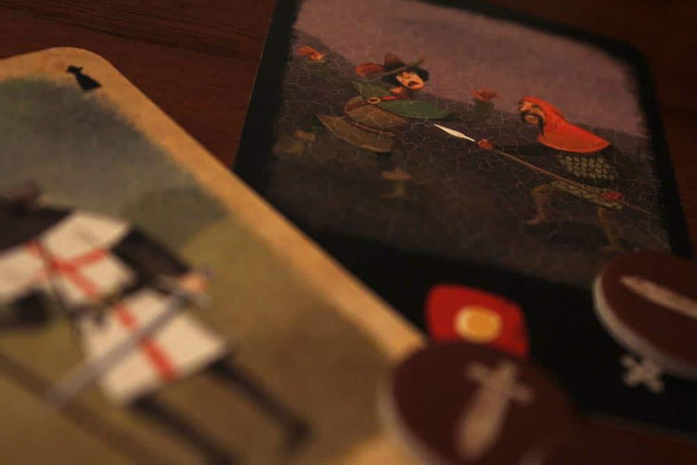 ボードゲーム「アンバー」の野盗と護衛
