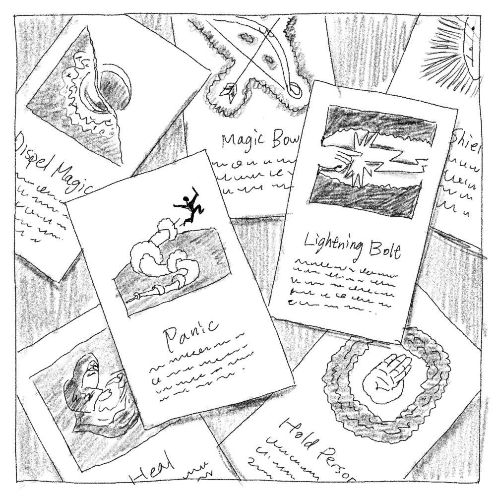 ボードゲーム「THE CHALLENGE」の魔法カード