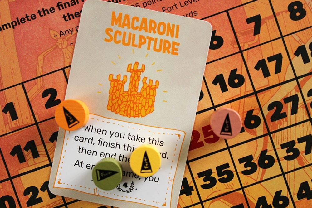 ボードゲーム「FORT」の「Macaroni Sculpture」