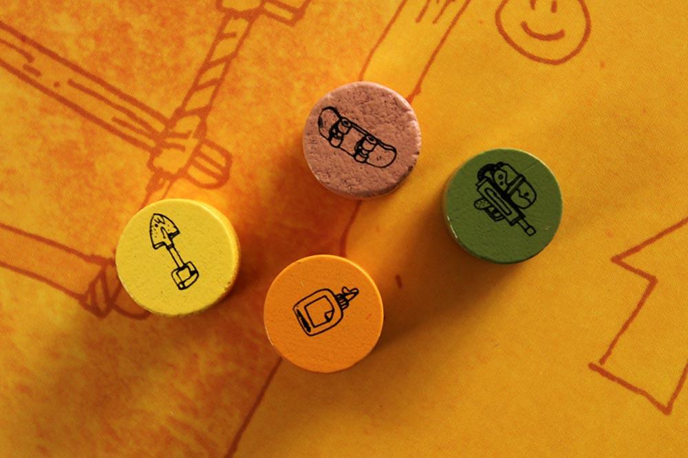 ボードゲーム「FORT」のプレイヤー駒